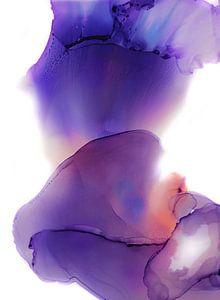 Paars Abstract van Stephanie Bos