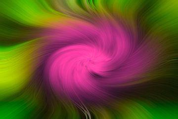 Knallgrün mit rosa Drehung Illustration von JM de Jong-Jansen