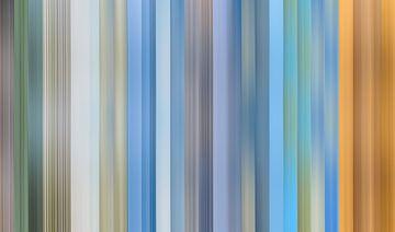 Kleurenpalet van de  Waddenkust en Waddenzee in Nederland van