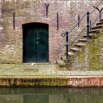 Aan de Utrechtse werven van de Nieuwegracht van De Utrechtse Grachten
