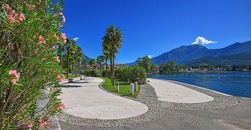lakeside promenade riva del garda, italy van Susanne Bauernfeind