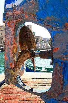 Schroef van een Boot met I LOVE Standbeeld-Doorkijk van e-STER design