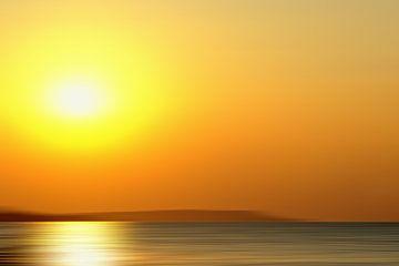 Zonsopkomst zeegezicht in beweging van Jan Brons