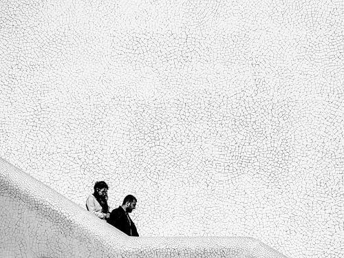 Afdalend tussen mozaiek van Emil Golshani