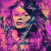 Kate Moss Kiss me Collage Pop Art  van Felix von Altersheim thumbnail