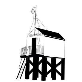 Plakat Drenkelingenhuisje Terschelling von Studio Tosca