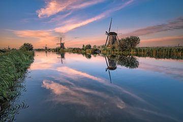Kinderdijk ses moulins à vent célèbres sur Sander Poppe