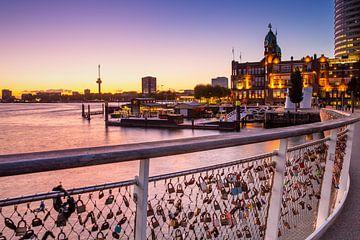Rotterdam met zonsondergang van Petra Brouwer