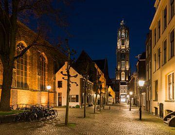 Utrecht Buurkerhof in der Nacht von Daan Kloeg