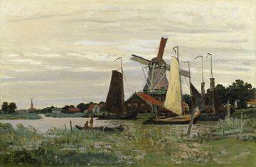 Molen bij Zaandam, Claude Monet
