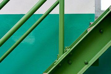 Stalen trap in fabriek van Jenco van Zalk
