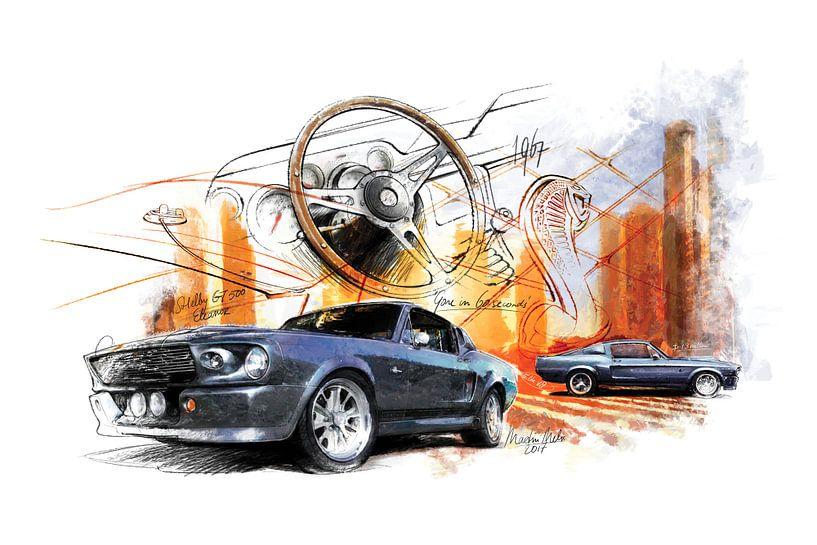 Shelby 500 GT Mustang (1967) van Martin Melis