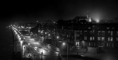 Zwart-wit straatfoto Nijmegen (XXL)