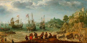 Schiffe vor einer Felsenküste, Adam Willaerts