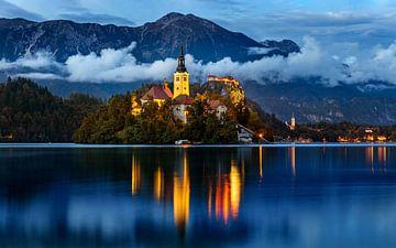 Soirée au lac de Bled, Slovénie sur Adelheid Smitt