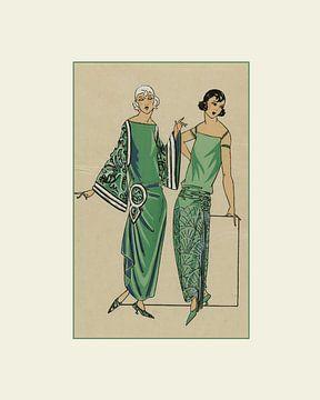 Les dames vertes - Vintage Art Deco Mode prent van NOONY