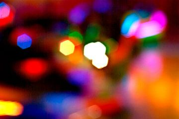 Colorful lights, circles, spots van