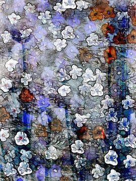 Verspreide bloemen 1 van Claudia Gründler