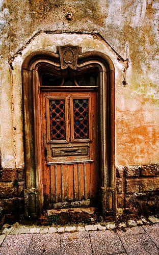 Oude verweerde deur