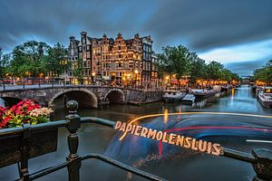 Amsterdam Brouwersgracht  van Angel Flores