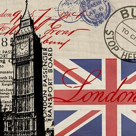 London Great Britain Collage von Andrea Haase