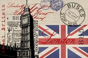 Londen Groot-Brittannië Collage van Andrea Haase
