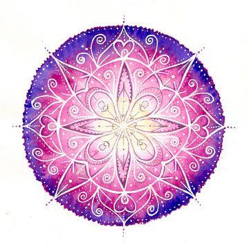 Mandala Rosa von Atelier Zerah
