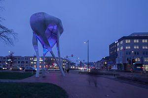Kruispunt in Doetinchem aan het begin van de avond