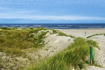 Toegang tot het strand op het eiland Baltrum van Anja B. Schäfer