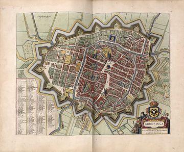 Groningen, Stadsplattegrond Joan Blaeu 1652 van Atelier Liesjes