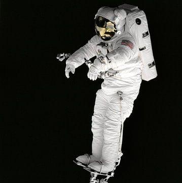 Astronaut op Voetsteun van Digital Universe
