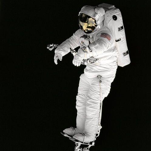 Astronaut op Voetsteun van