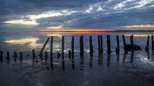 Waddenzee zonsopkomst Holwerd