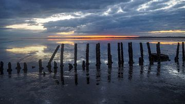 Waddenzee zonsopkomst Holwerd van