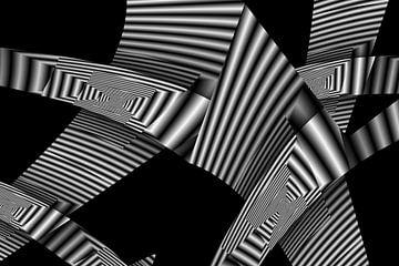 Monochrome vouwen van Heidemarie Andrea Sattler
