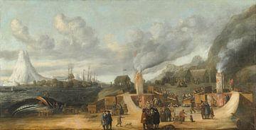 Brennereien in der Nähe des Dorfes Smerenburg, Cornelis de Man