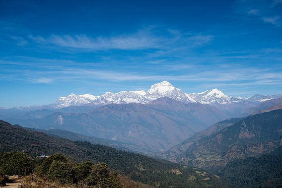 Uitzicht in Nepal
