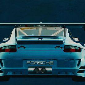 Porsche GT3 RS Cup 2008 Rückseite von Jan Keteleer