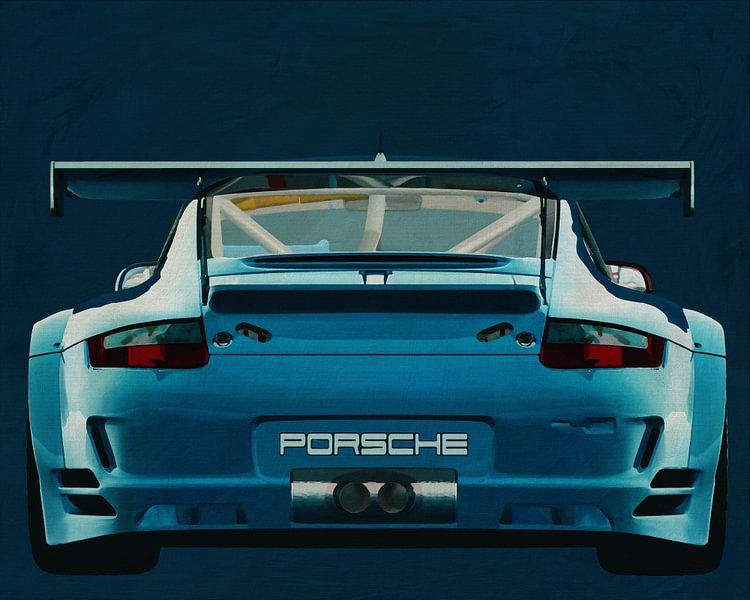 Porsche GT3 RS Cup 2008 achterzijde van Jan Keteleer