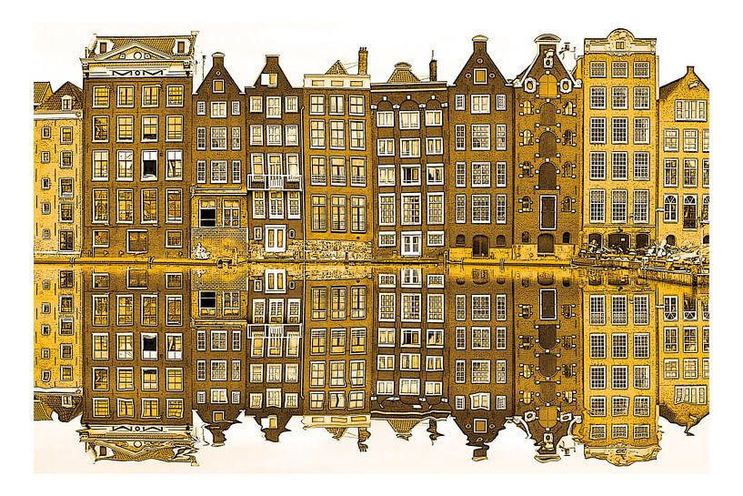 Gouden Damrak Amsterdam Nederland van Hendrik-Jan Kornelis