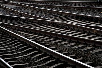 Spoorrails Amsterdam van Ronald Jansen