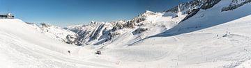 skigebied oostenrijk panorama van