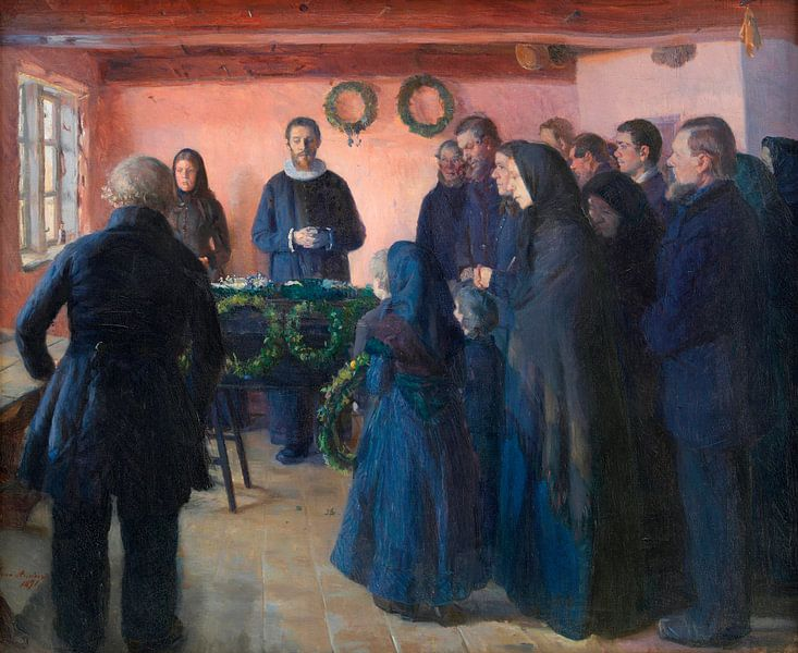 Eine Beerdigung, Anna Ancher von Meesterlijcke Meesters