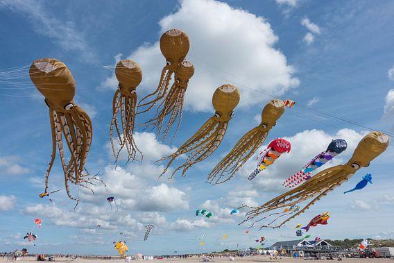 Vliegers op het strand