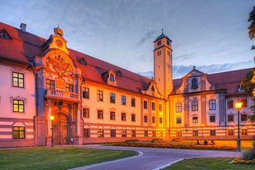 Fürstbischöfliche  Residenz bei Abenddämmerung , Altstadt, Augsburg, Schwaben, Bayern, Deutschland,  von Torsten Krüger