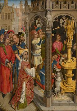 Augustinus opfert einem manichäischen Götzen, Rogier van der Weyden.