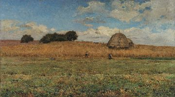 António Carvalho de Silva Porto~Ein Weizenfeld --Seara (Stadtrand von Paris)