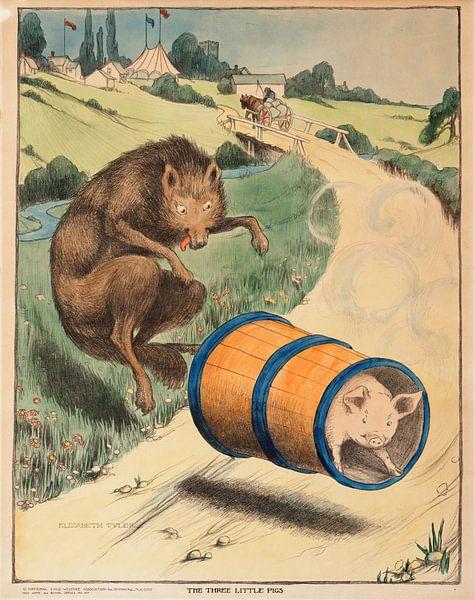 Drei kleine Schweinchen, Elizabeth Tyler von Vintage Afbeeldingen