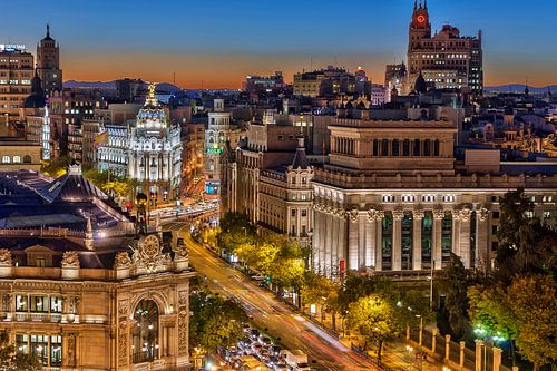 Night sky of Madrid von Bob de Bruin