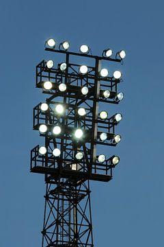 Lichtmast van stadion De Adelaarshorst van Stadionautist